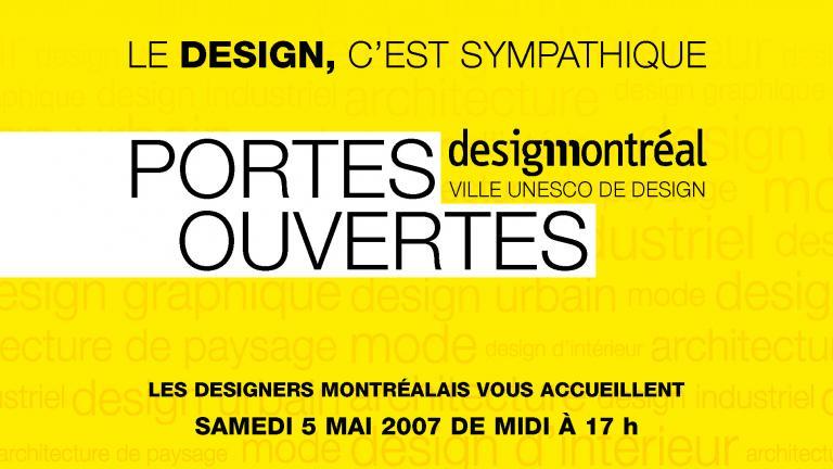 Programme Portes Ouvertes Design Montréal 2007