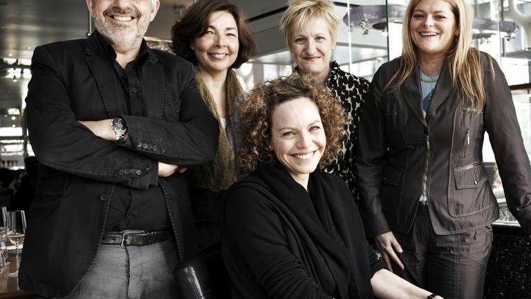 Les portes-parole Gilles Saucier et Macha Limonchik; Marie-Josée Lacroix, Bureau du design; Brigitte Jacques, Ministère de la Culture; Catherine Sévigny, élue responsable de la culture à la Ville de Montréal