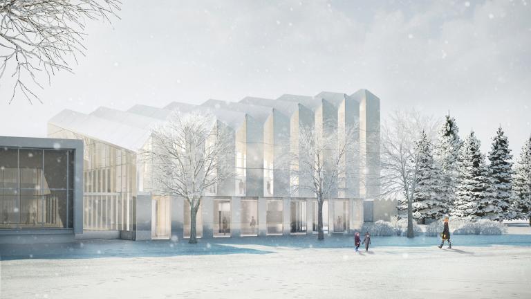 Projet finaliste - Pavillon de verre du Jardin botanique de Montréal