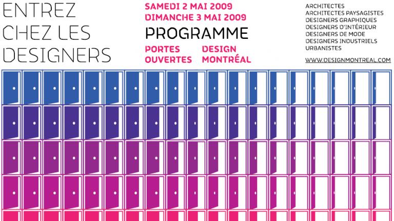 Programme des Portes ouvertes Design Montréal 2009