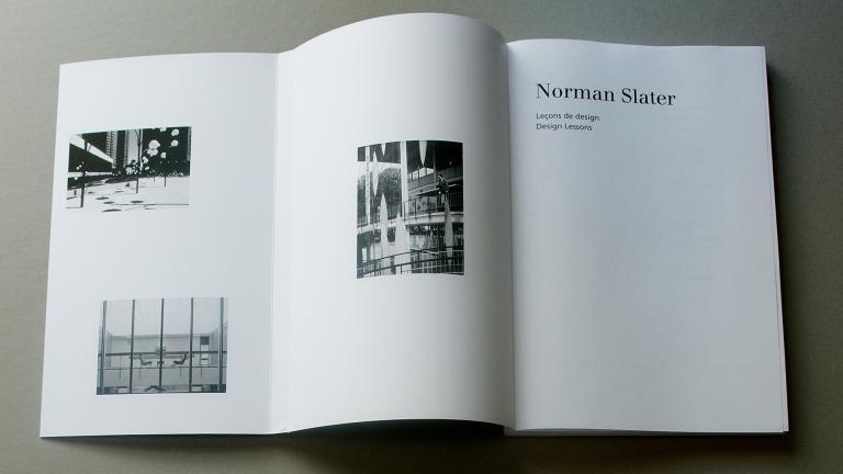 Norman Slater. Leçons de design / Design Lessons
