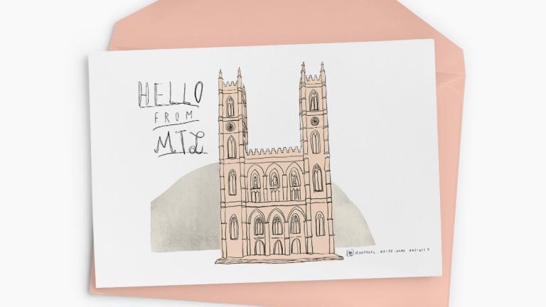 Cartes de souhaits Souvenir de Montréal — Notre-Dame