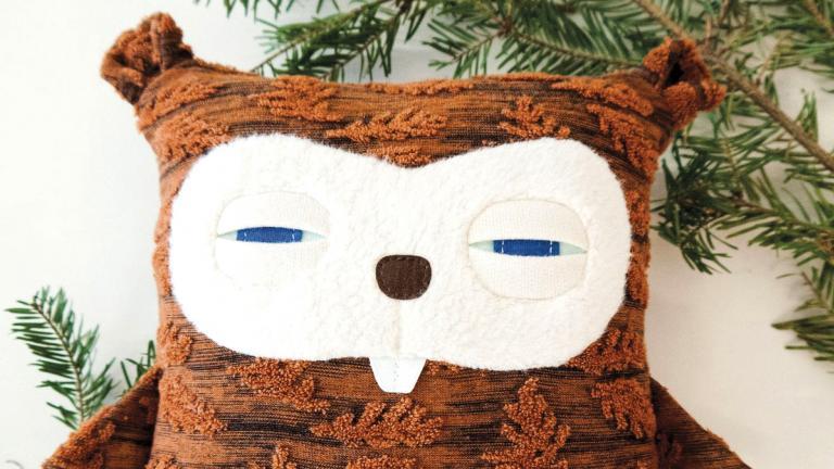 Baby Beaver Cushion