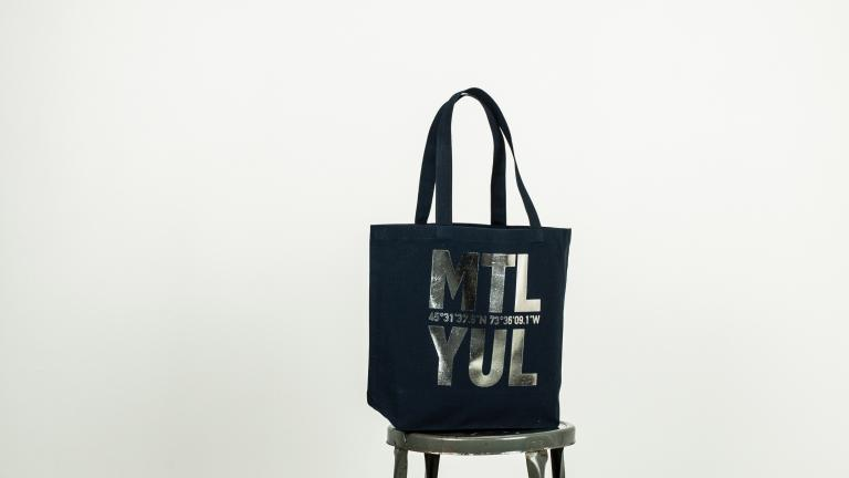 MTL-YUL Canvas Tote Bag
