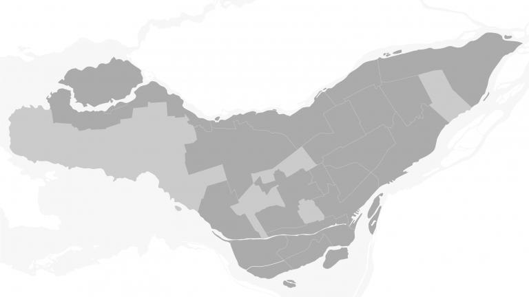 Carte Montréal épurée