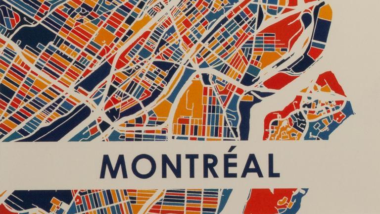 Carte postale cartographique
