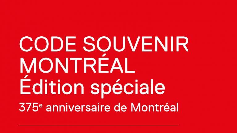 CODE SOUVENIR MONTRÉAL 2016-2017 Catalogue cover