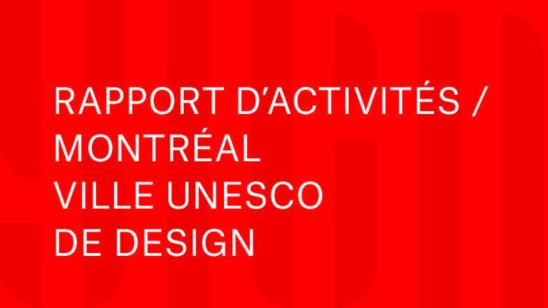 Couverture Rapport 2012-2015 Montréal Ville UNESCO de design