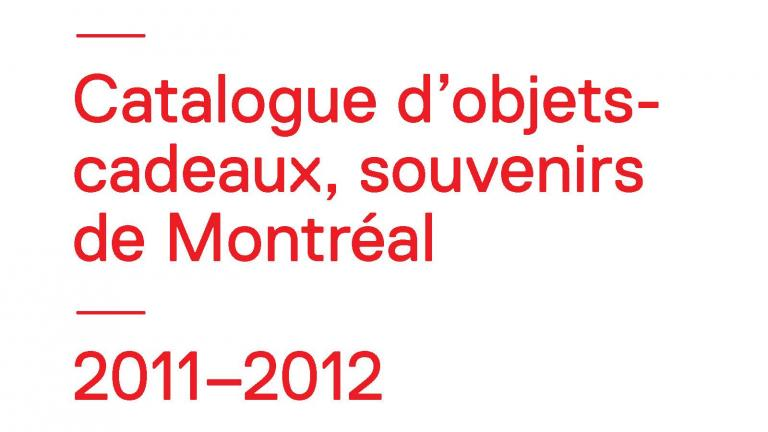 2011-2012 CODE SOUVENIR MONTRÉAL catalogue (French version)