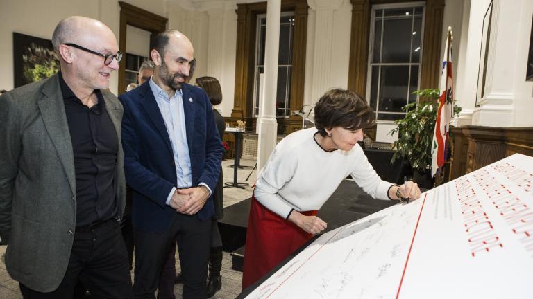 Signature de l'Agenda montréalais 2030_Marie-Josée Lacroix
