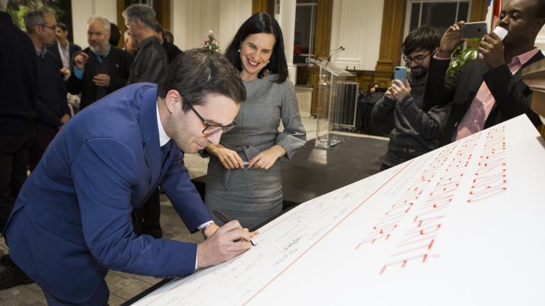 Signature de l'Agenda montréalais 2030