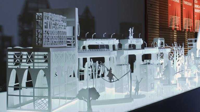 Exposition «Ich War Dort», Graz, 2015. Commissaires : Anne Thomas et Pierre Laramée - Designer : Mere Phantoms