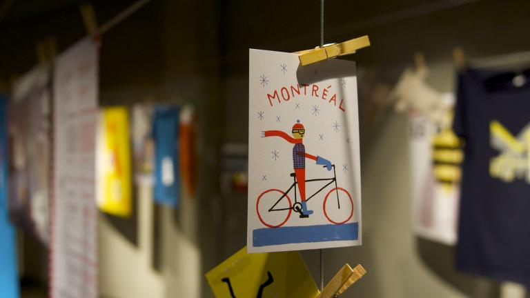 Exhibition «Ich War Dort», Graz, 2015. Anne Thomas and Pierre Laramée : show's co-curators - Editor : Paperole - Illustrator : Benoit Tardif
