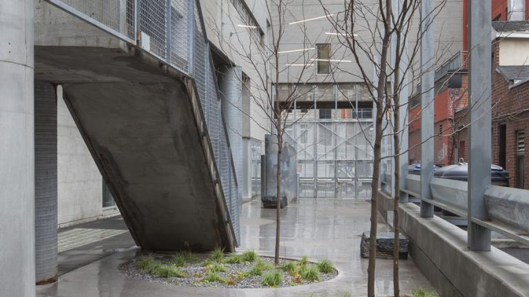 Cour intérieure, Pavillon de Design, UQÀM, Montréal, 2017