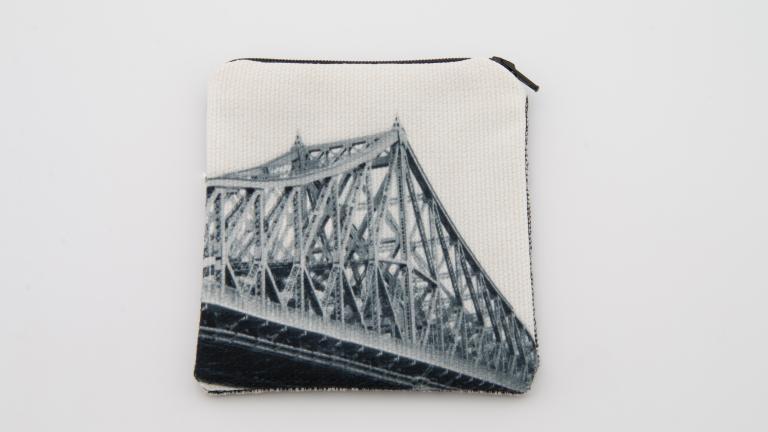 Porte-monnaie — série iconique en noir et blanc (Pont Jacques-Cartier)