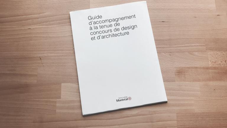 Guide d'accompagnement à la tenue de concours de design et d'architecture