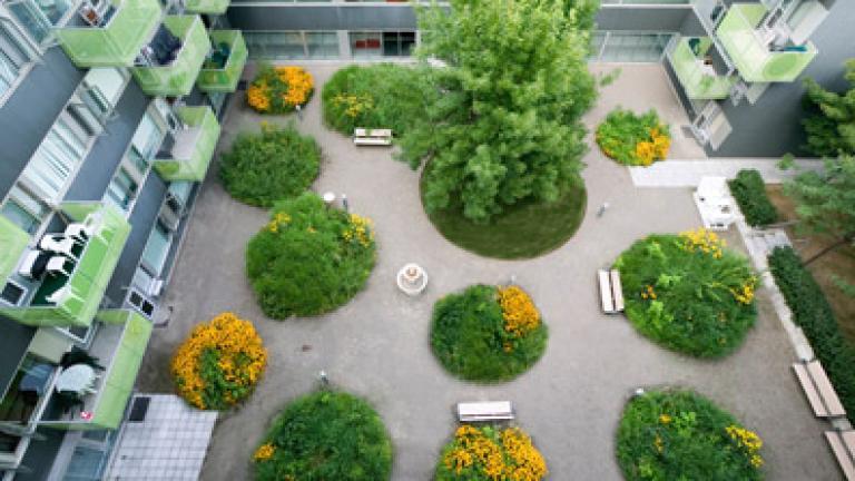 Benny Farm / Plan d'ensemble : Saia Barbarese Topouzanov Architectes et Claude Cormier architecture de paysage et design urbain (1er plan d'ensemble en 1996 : Daoust Lestage)