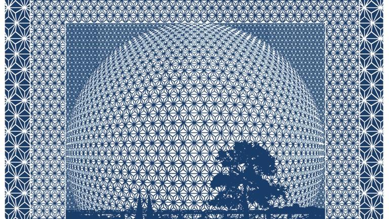 Carré de soie grand format — Heure bleue