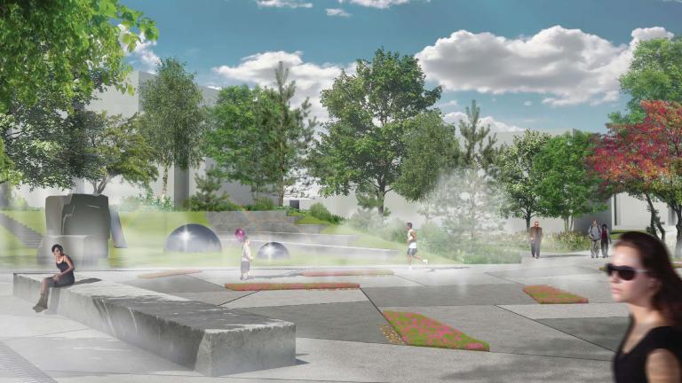 Public square - playground - mists