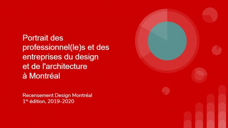 Highlights of the Design Montreal Census, 1st edition, 2019-2020