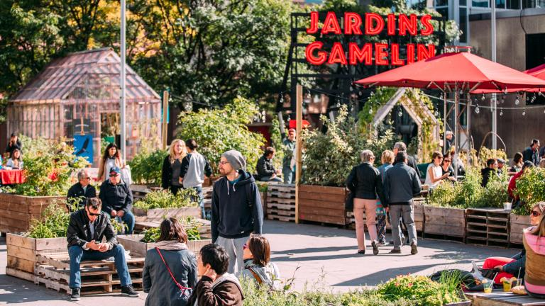 Jardins Gamelin, Montréal, 2015