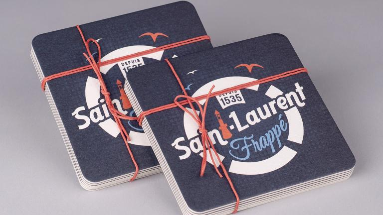 Saint-Laurent frappé coasters, Les Archivistes