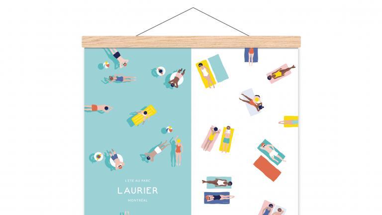 Affiche — L'été au Parc Laurier