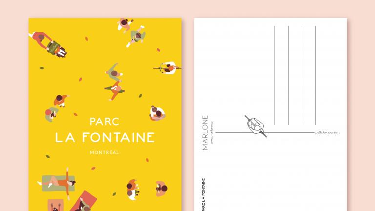 Carte postale — Parc La Fontaine