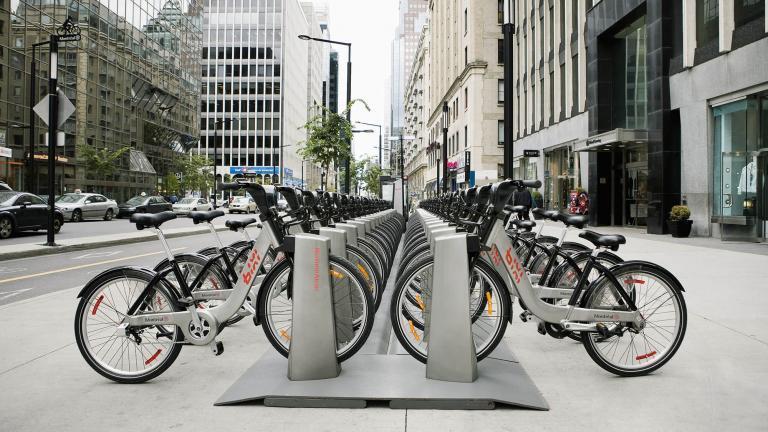Vélo en libre-service BIXI pour BIXI Montréal, par Michel Dallaire