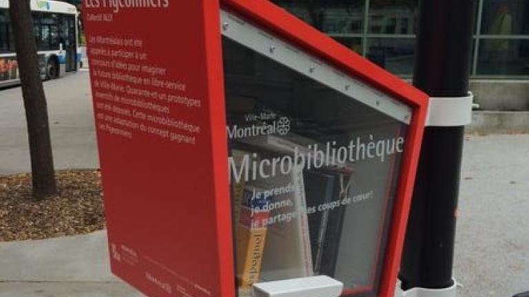 Microbibiothèque Ville-Marie, square Cabot