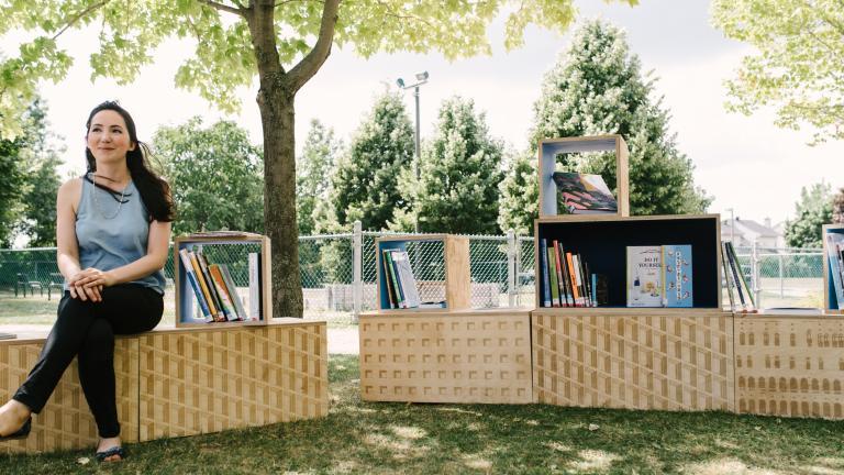 Microbibliothèque de Pierrefonds, le 1er août 2016