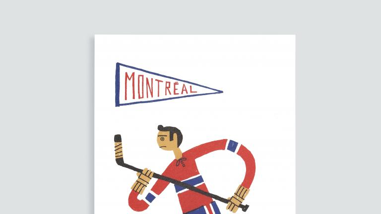 Paperole Images de Montréal Cards and Art Prints — Hockey