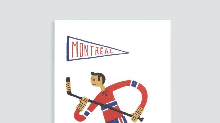 Cartes et affichettes Paperole Images de Montréal — Hockey
