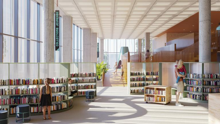Youth Collection and Family Zone: Learning and Play Spaces Integrated into the Library