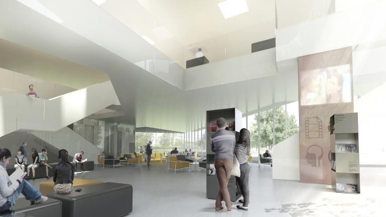 Interior perspective - café