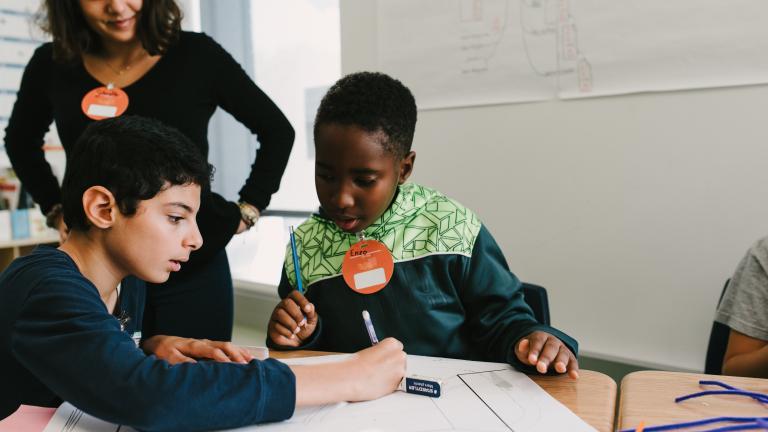 Atelier de cocréation avec les élèves de l'école Notre-Dame-des-Sept-Douleurs, le 18 octobre 2016