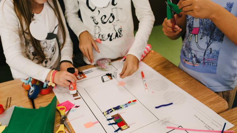 Atelier de cocréation avec les élèves de l'école primaire de l'Île-des-Soeurs, le 18 octobre 201