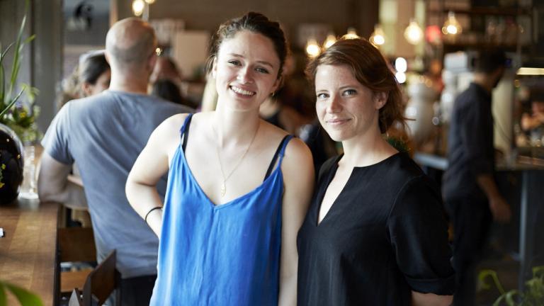 Élyse Leclerc et Gabrielle Falardeau. Jarre