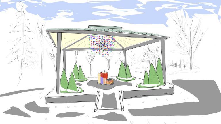 La Casa de Lhasa Winter Station, Plateau Mont-Royal Borough