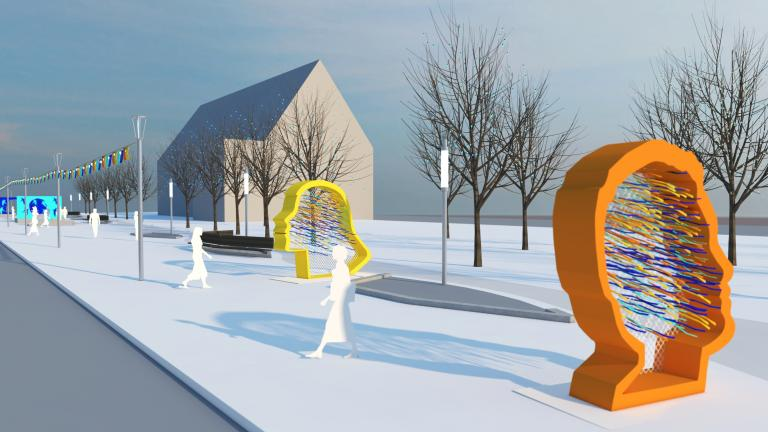 Station hivernale Le jardin de l'espoir, arrondissement Rivière-des-Prairies–Pointe-aux-Trembles