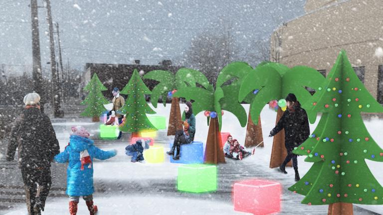 L'oasis d'hiver Winter Station, Anjou Borough