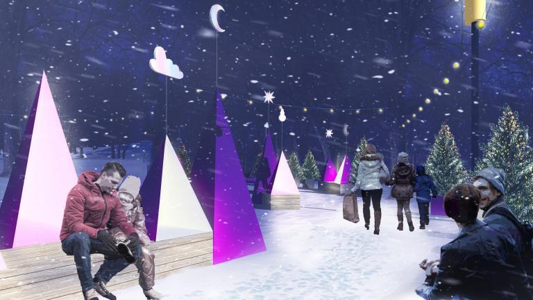 Voir l'hiver en rose Winter Station, Saint-Léonard Borough