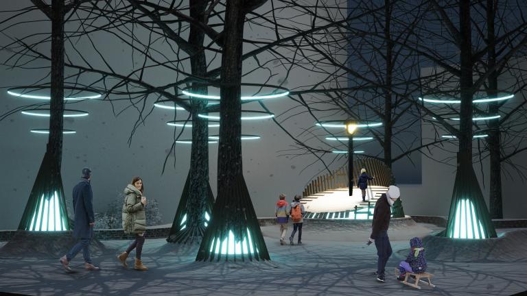 Station hivernale La Sous-Bois, Parc Charles-Mayer, arrondissement Ville-Marie