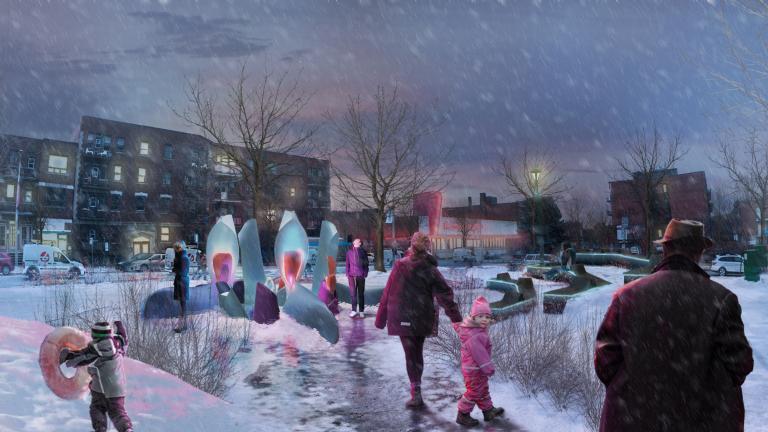 Voyant ces voyants Winter Station, Outremont Borough
