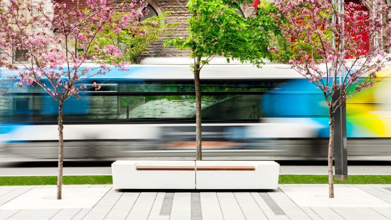 Mobilier urbain, Quartier des spectacles, par Daoust Lestage, arrondissement de Ville-Marie