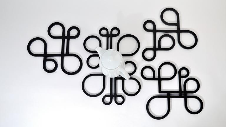 Dessous de plat A+B+C+D — Noir