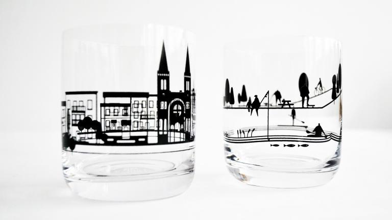 Mon quartier — Serving Set of Whisky Glasses