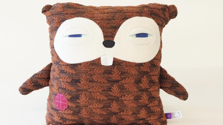 375e Mtl beaver stuffed toy, Velvet Moustache