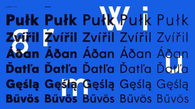 Typeface, Wigrum, 2011