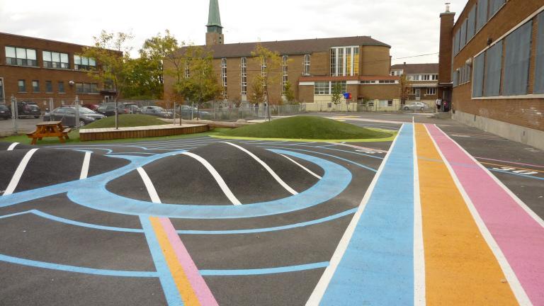 St-Donat schoolyard, Montreal, 2014